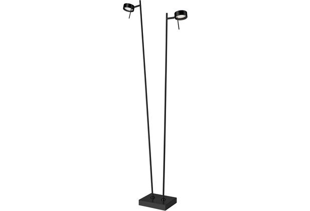 Sompex Stehlampe Bling LED 2x Leuchten H 140/125cm mattschwarz