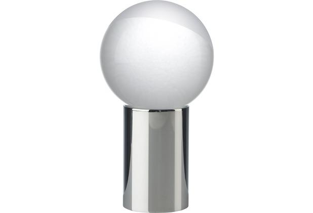 Sompex Tischleuchte Contro LED Chrom klar/matt Glas D 7cm dimmbar
