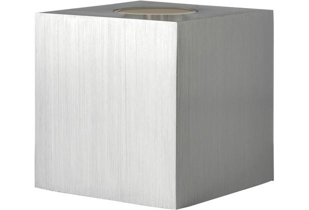 Sompex Tischleuchte Cubic Alu quadratischer Sockel
