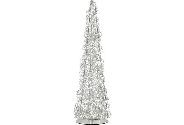 Sompex Stehlampe Curly LED silber H 130cm Weihnachtsbaum