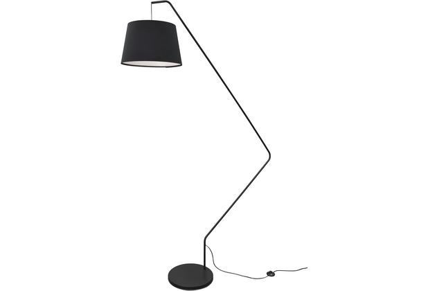 Sompex Stehlampe Dublin H 225cm Schirmlampe, schwarz