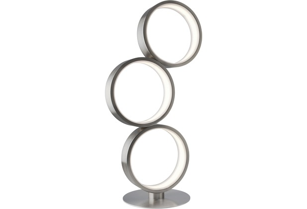 Sompex Tischleuchte Loop LED, silber, dimmbar