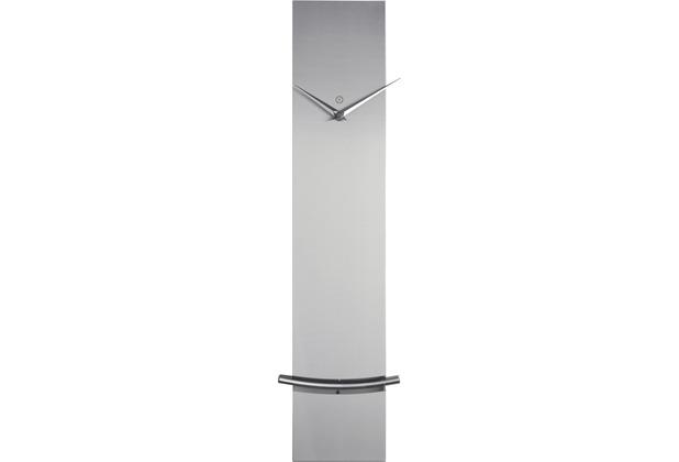 Sompex Wanduhr Monaco, Pendeluhr, 60x12x5cm, Metall, silber