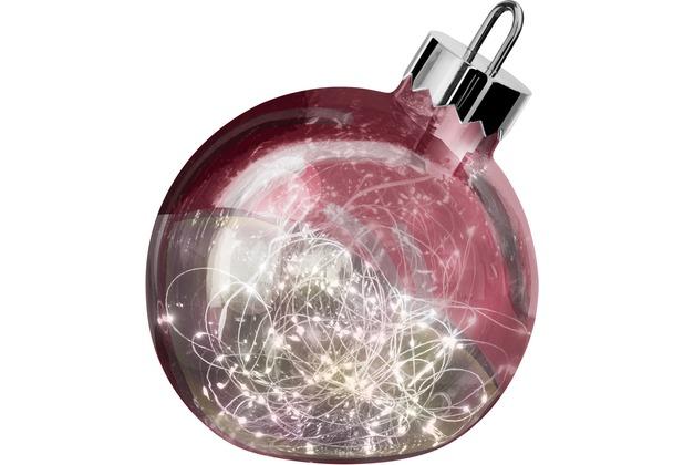 Sompex Dekoleuchte Christbaumkugel Ornament LED Dunkelrot D20cm