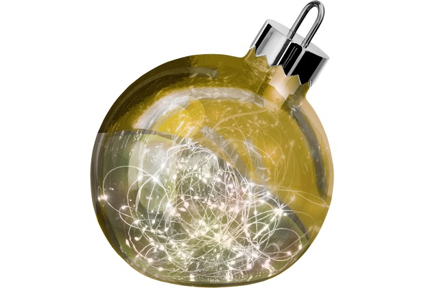 Sompex Dekoleuchte Christbaumkugel Ornament LED Gold D20cm