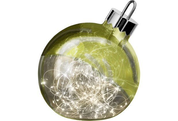 Sompex Dekoleuchte Christbaumkugel Ornament LED Grün D25cm