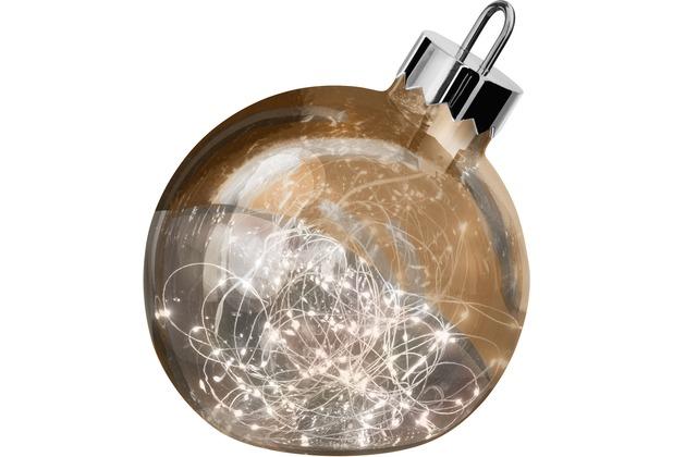 Sompex Dekoleuchte Christbaumkugel Ornament LED Kupfer D20cm