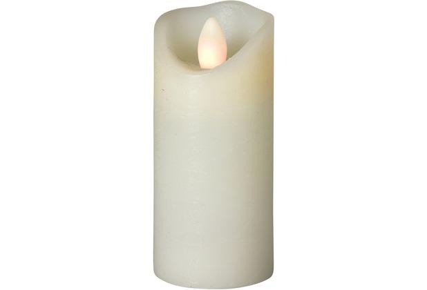 Sompex LED Kerze Shine elfenbein mit Timer schmal D 5cm H 12,5cm
