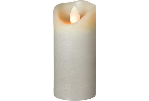 Sompex LED Kerze Shine grau mit Timer schmal D 5cm H 12,5cm