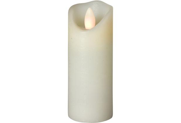 Sompex LED Kerze Shine elfenbein mit Timer schmal D 5cm H 15cm