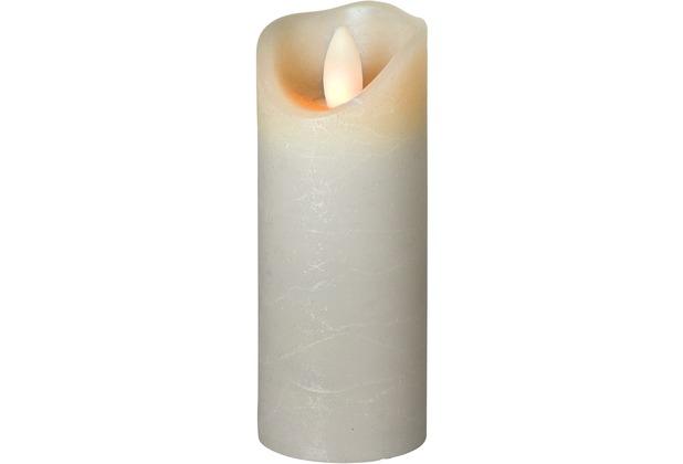 Sompex LED Kerze Shine grau mit Timer schmal D 5cm H 15cm