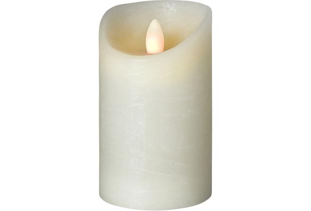 Sompex LED Kerze Shine elfenbein mit Timer D 7,5cm H 12,5cm