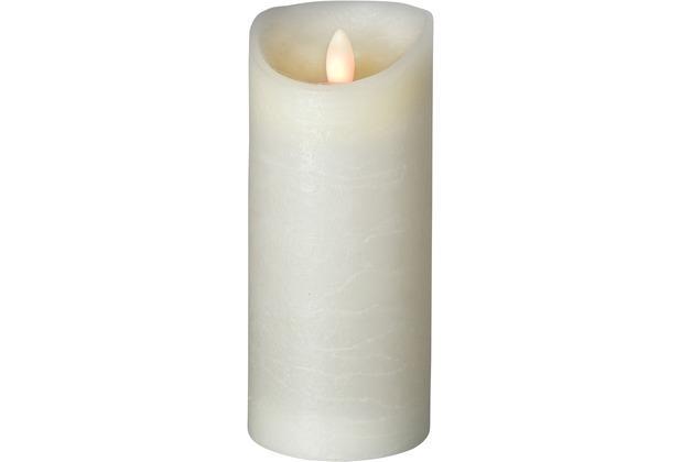 Sompex LED Kerze Shine elfenbein mit Timer D 7,5cm H 17,5cm