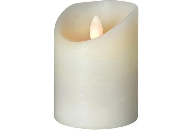 Sompex LED Kerze Shine elfenbein mit Timer D 7,5cm H 10cm