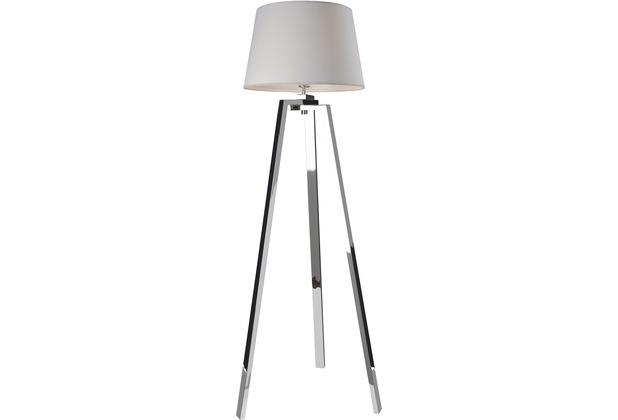 Sompex Stehlampe Triolo Chrom/weiß H 152cm Dreibein