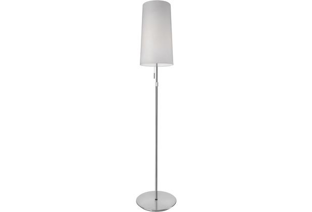 Villeroy & Boch Stehlampe Veroma Chrom/weiß höhenverstellbar Schirmleuchte