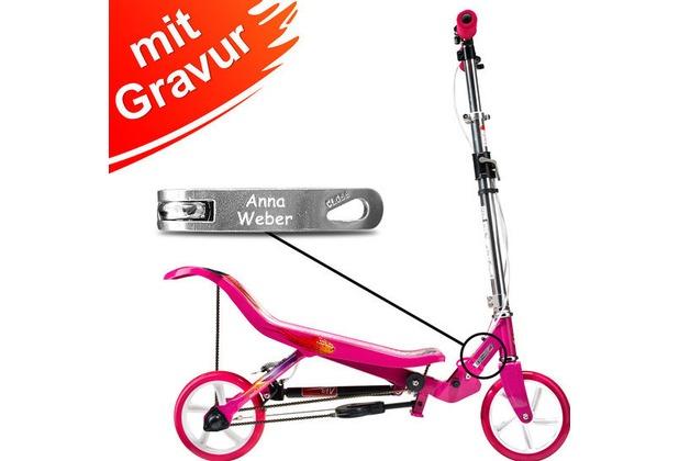 Space Scooter X580 pink/rosa MIT GRAVUR (z.B. Namen)