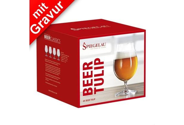 Spiegelau Beer Classics Biertulpe 4er Set MIT GRAVUR (z.B. Namen)