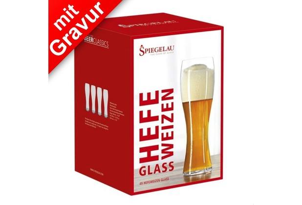 Spiegelau Beer Classics Hefeweizenglas 4er Set MIT GRAVUR (z.B.Namen)