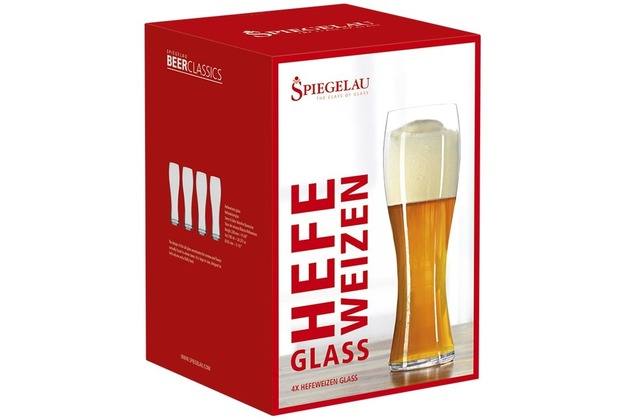 Spiegelau Beer Classics Hefeweizenglas 4er Set