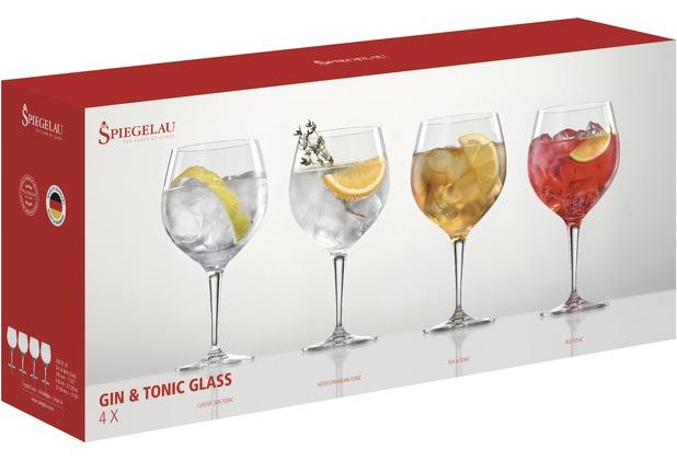 Spiegelau Gift Set Gin & Tonic Glass 4er Set