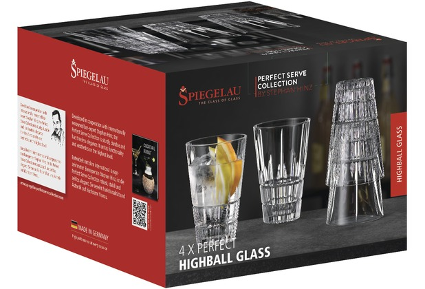 Spiegelau Perfect Serve Coll. Perfect Latte Macchiato / Highball Glass 4er S