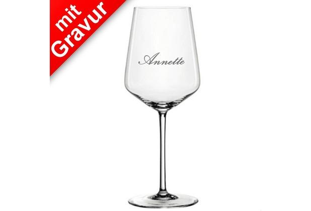 Spiegelau Style Weisweinglas 4er Set MIT GRAVUR (z.B. Namen)