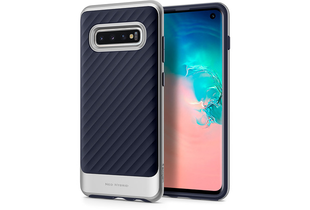 Spigen Neo Hybrid for Galaxy S10 silver colored