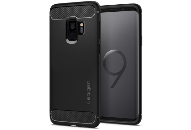 Spigen Rugged Armor for GALAXY S9 mattblack