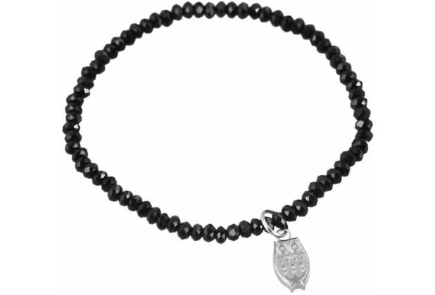 Steinchenarmband mit Edelstahlelement - schwarz 003250000033