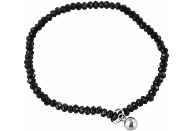 Steinchenarmband mit Edelstahlelement - schwarz 003250000035