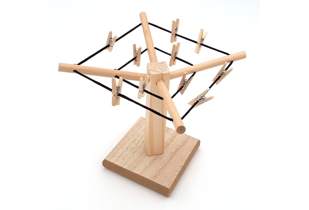 Sterngraf Mini-Wäschespinne Geldwäschespinne aus Holz