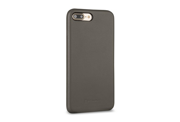 Stilgut BackCover Nappa für iPhone 7 Plus, grau