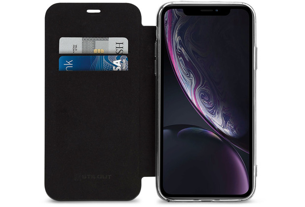 Stilgut Berlin Booklet mit NFC-Schutz for iPhone XR black