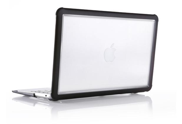 STM STM Dux Case, Apple MacBook Air 13 (2018), schwarz/transparent, STM-122-218M-01