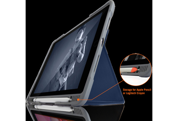 STM Dux Plus DUO Case, Apple iPad 10,2 (2019), midnight blau/transparent, STM-222-236JU-03