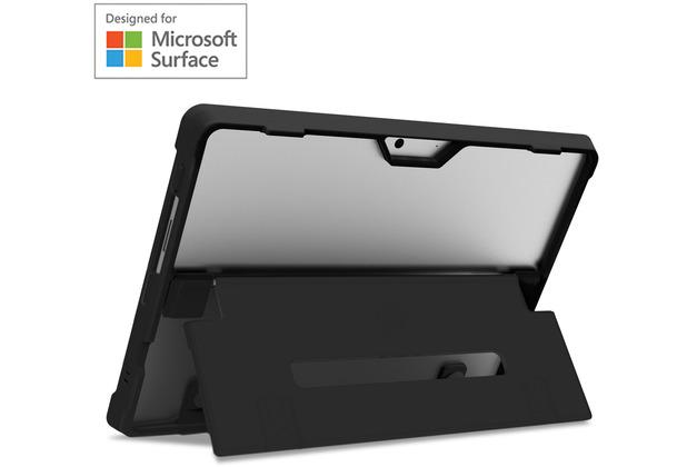 STM Dux Shell Case, Microsoft Surface Pro X, schwarz/transparent, STM-222-261L-01