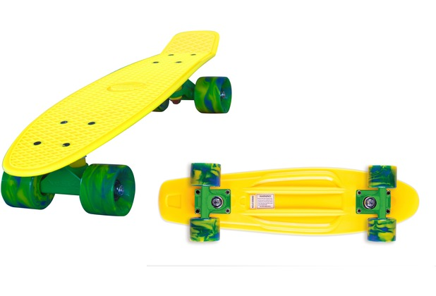 "Streetsurfing Skateboard ""Beach Board 22\""- Design: yellow"