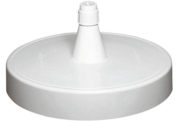 Sun Garden Ständer für Ampelschirm, mit Sand befüllbar, Füllgewicht 150kg, für Rohrstärken 40-70mm, Ø 85cm weiß