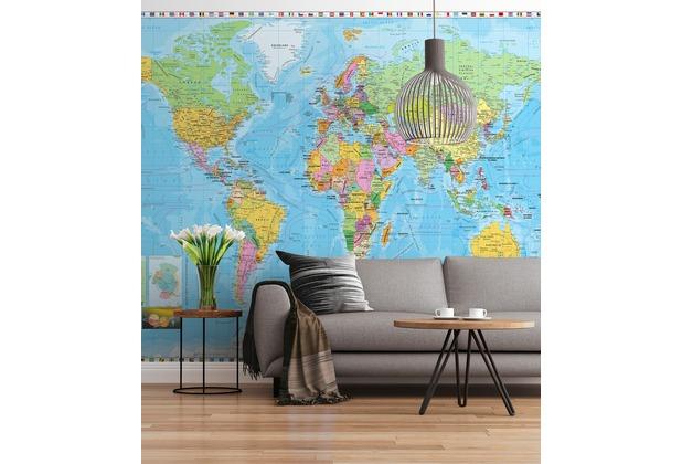 "Sunny Decor Fototapete \""World Map\"" 254 x 184 cm"