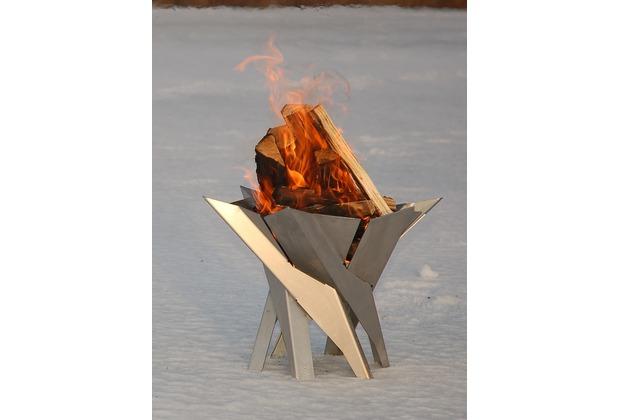 SvenskaV Design Feuerkorb Phoenix, L Rohstahl