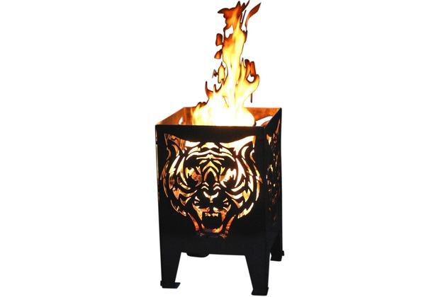 SvenskaV Motiv-Feuerkorb Tiger, L