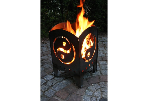SvenskaV Motiv-Feuerkorb Yin & Yang, L