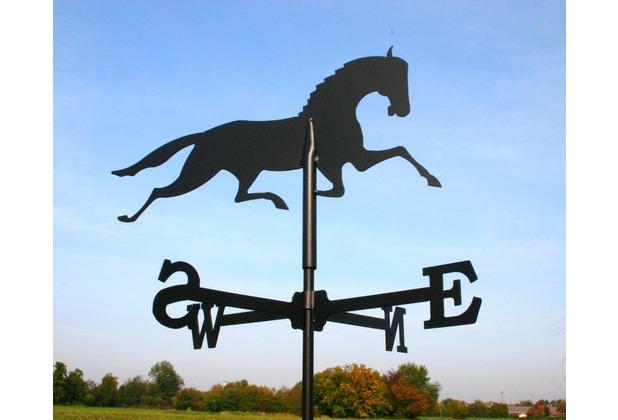 SvenskaV Wetterfahne Pferd, Stahlblech schwarz pulverbeschichtet, klein