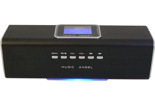 @tec Music Angel 6in1 Mini Stereo Lautsprecher 6 Watt (2x 3W) Boxen in Schwarz