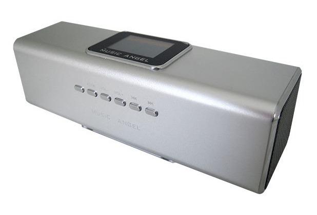 @tec Music Angel 6in1 Mini Stereo Lautsprecher 6 Watt (2x 3W) Boxen in Silber