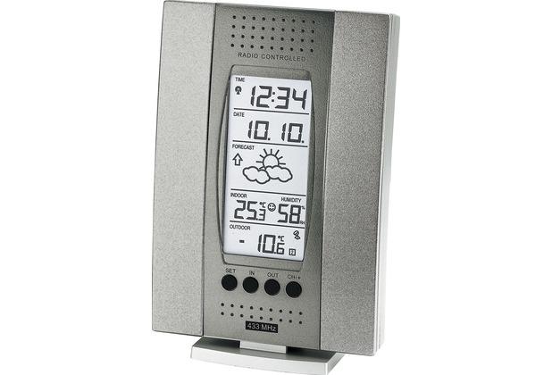 TechnoTrade WS 7014-IT grau Wetterstation