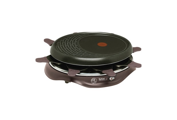 tefal raclette grill simply invents 8 cherry black. Black Bedroom Furniture Sets. Home Design Ideas