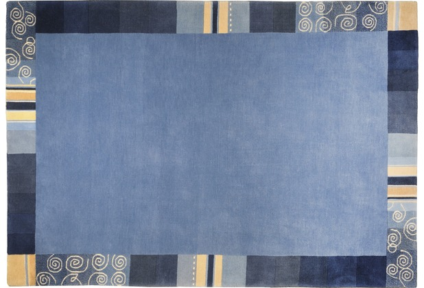 THEKO Nepalteppich Everest TS204 blau 170 x 240 cm