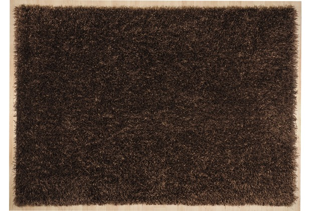 THEKO Hochflor-Teppich Girly uni choco 120 cm x 180 cm
